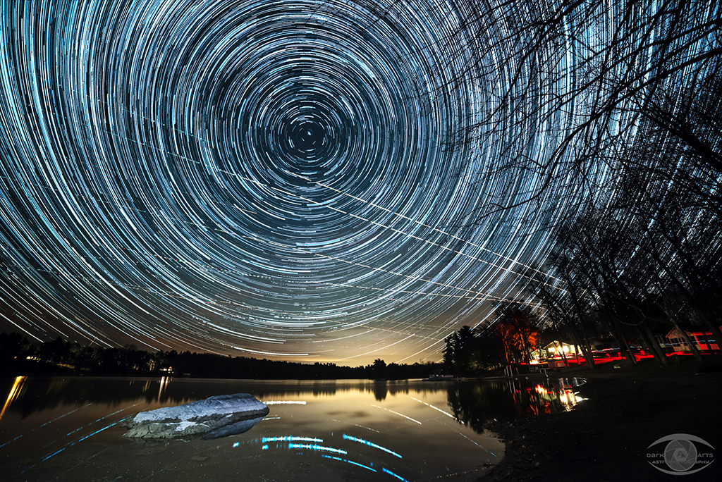 Star Trails at Shawmere Cottages